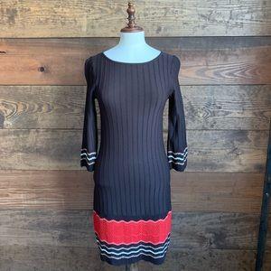 Nine West Dark Brown Knit Dress